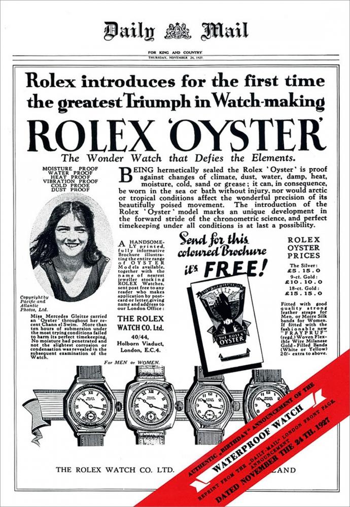 Rolex Oyster hirdetés