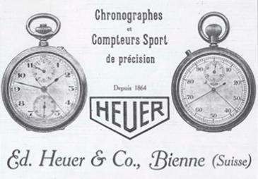 Az első Heuer hirdetés, 1913.